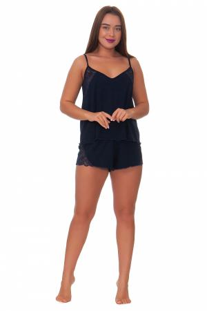 Пижама женская, модель 11, темно-синий (вискоза)