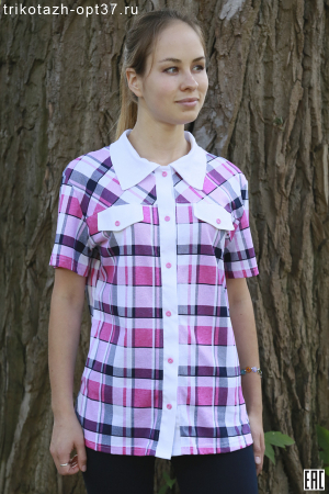 Рубашка женская 01 (кулирка)