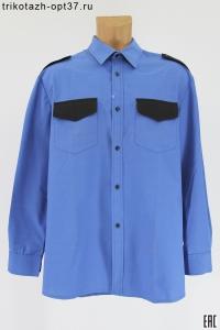 Рубашка охранника, синяя